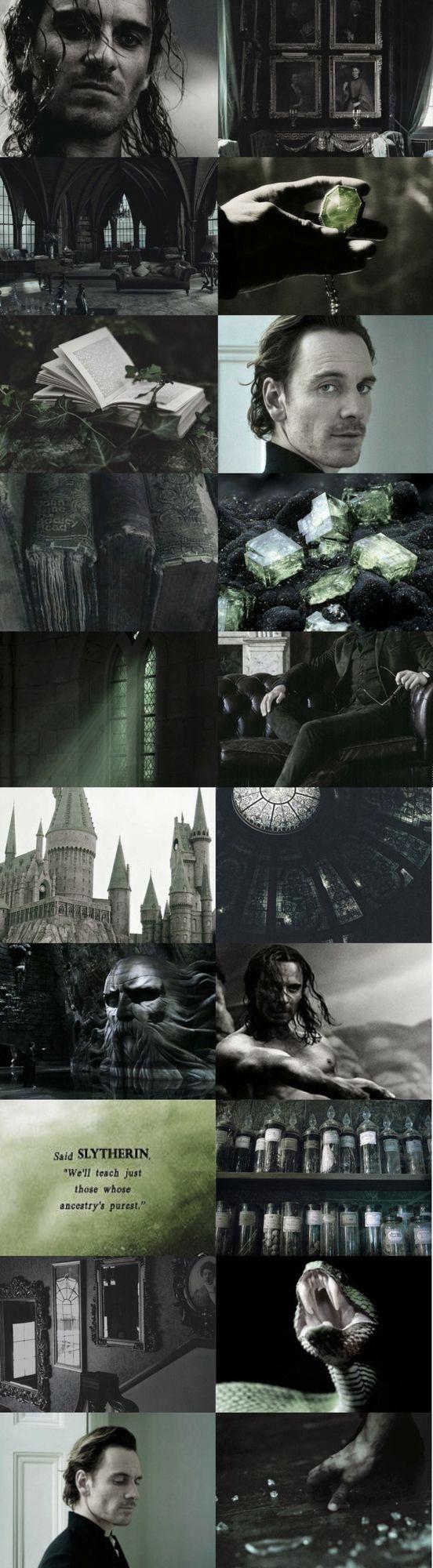 Michael Fassbender as Salazar Slytherin.  Fancast Hogwarts founders