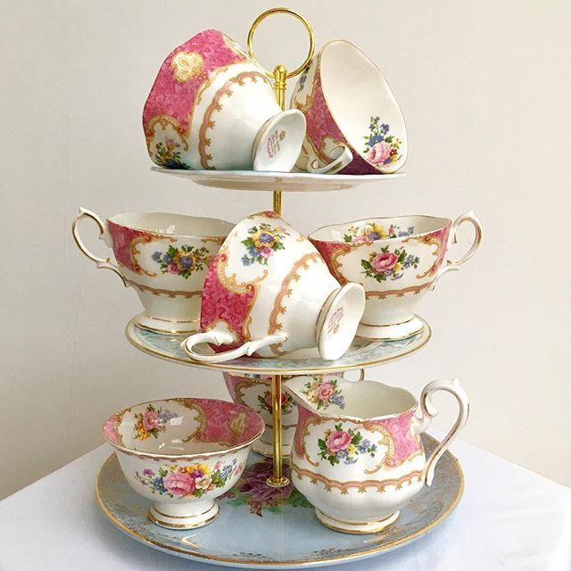 According to British scientists, tea tastes better drank from a china cup. We hire beautiful china ... *Link to main china gallery in bio*