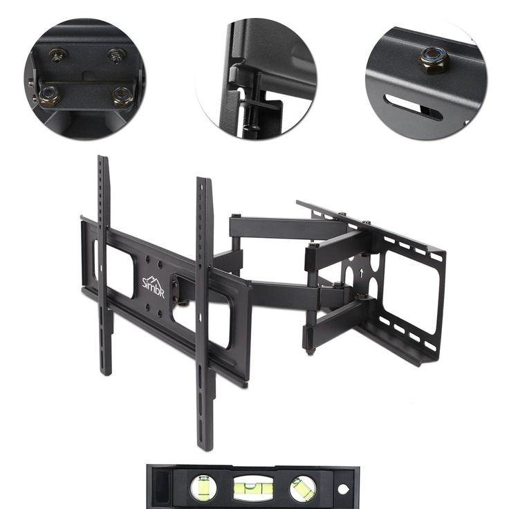 Amazon.com: SIMBR Wall Mount Bracket with Full Motion Dual Articulating Arm for 32-70 Inch TV: Home Audio & Theater