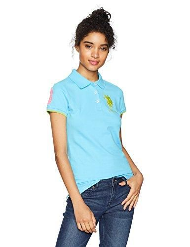 d1bf2032760e U.S. Polo Assn. Women s Contrast Patch Polo Shirt
