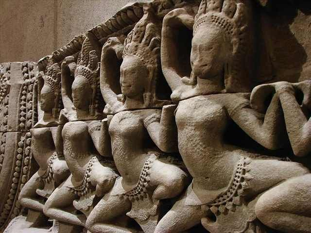 Apsaras from 12th-13th century sandstone.