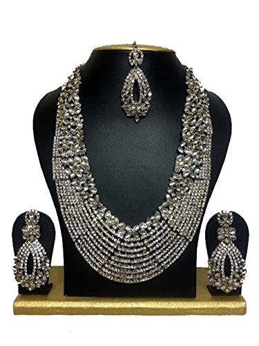 Indian Bollywood Style White CZ Gold Plated Kundan Weddin... https://www.amazon.com/dp/B01KJU2DC8/ref=cm_sw_r_pi_dp_x_6vFuzb7W2QYZ9