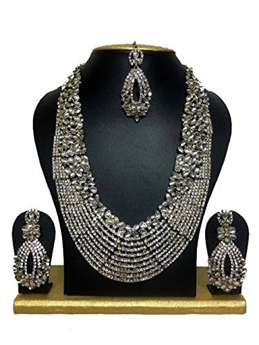 Indian Bollywood Style White CZ Gold Plated Kundan Weddin... https://www.amazon.com/dp/B01KJU2DC8/ref=cm_sw_r_pi_dp_x_FXKZybCJHV561