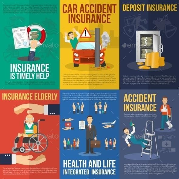 Insurance Poster Set Insurance Health Coach Business Health
