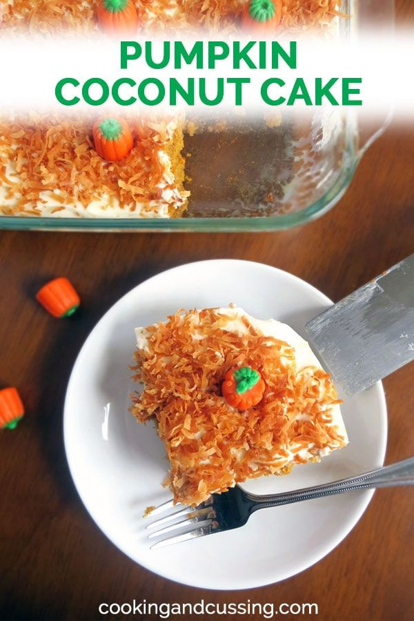 Pumpkin spice flavors combined with the tropical notes of coconut. Fluffy pumpkin cake soaked in cream of coconut and to…