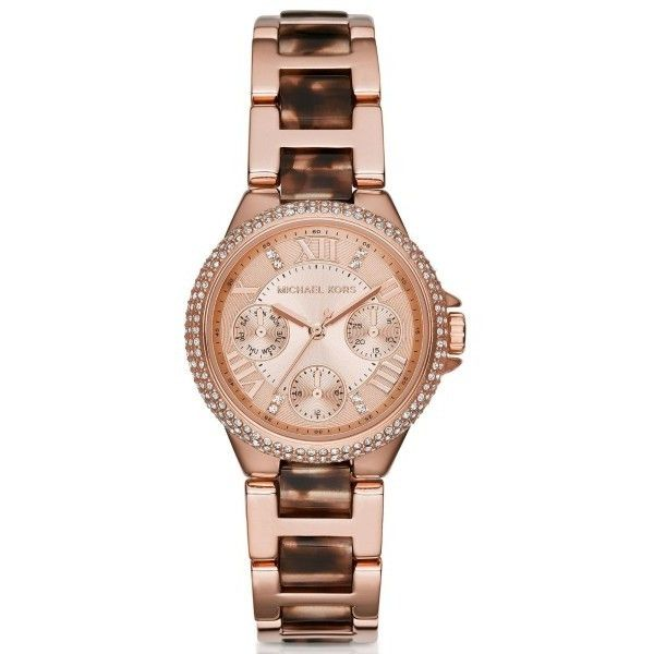 Pre-owned Michael Kors MK4308 Rose Gold Stainless Steel 33mm Womens... ($192) ❤ liked on Polyvore featuring jewelry, watches, rose gold stainless steel jewelry, michael kors watches, gold stainless steel jewelry, pre owned watches and preowned watches
