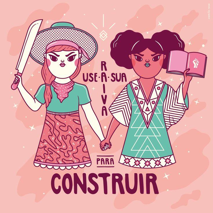 2017 Feminist calendar in colab with Cristina Pagnoncelli, Lygia Pires e Anastasia Pugacheva. Available to buy online on http://desfigure.iluria.com/pd-3ee16f-calendario-2017.html?ct=&p=1&s=1  #camilarosa #calendar #2017 #feminist
