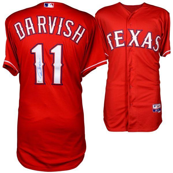 newest 96d78 02f46 best price mlb jerseys texas rangers 11 yu darvish red ...