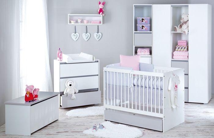 Przepiękny zestaw mebli dla niemowląt Dalia - łóżeczko może być w rozmiarze 120x60 lub 140x70.