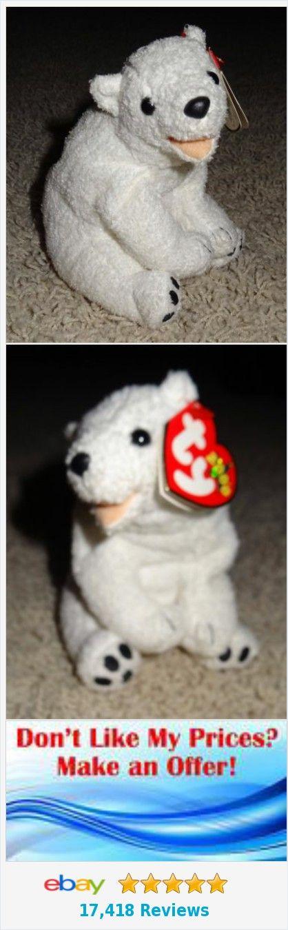 TY Beanie Baby Aurora Polar Bear White 2000 Retired Soft Mint TH | eBay http://www.ebay.com/itm/-/352109681232?