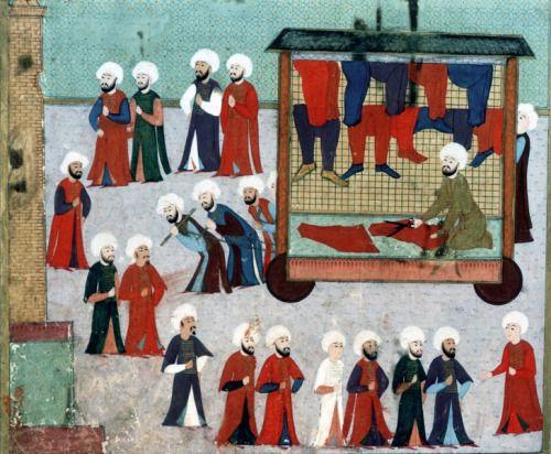 Gülnuş Sultan'dan önceki İlk Osmanlı Karavanı - Turkish illustration from 1583