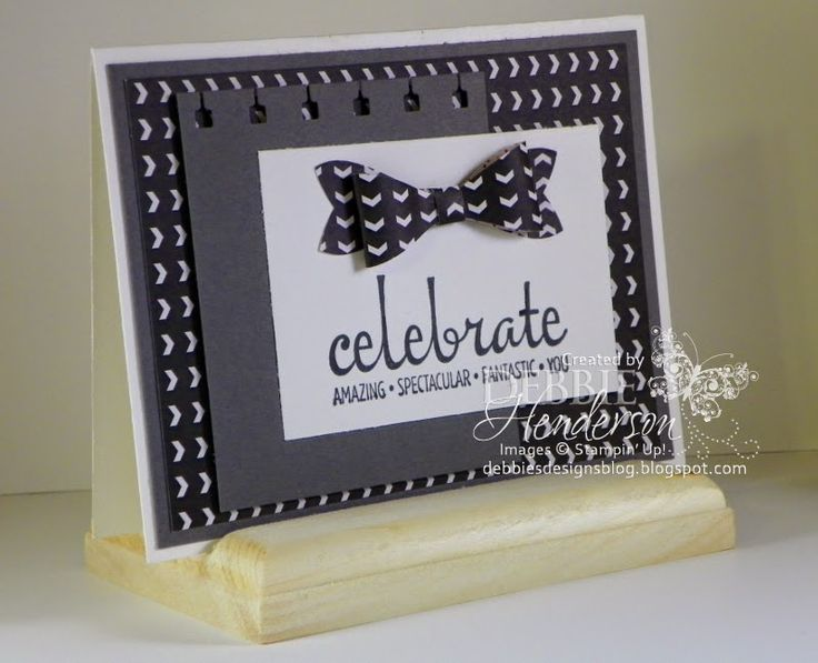 March 11, 2015 Debbie Henderson Debbie's Designs: Stampin' Up! Fabulous Four, Bow Builder Punch, Spiral Border Punch, Stacked with Love DSP Stack