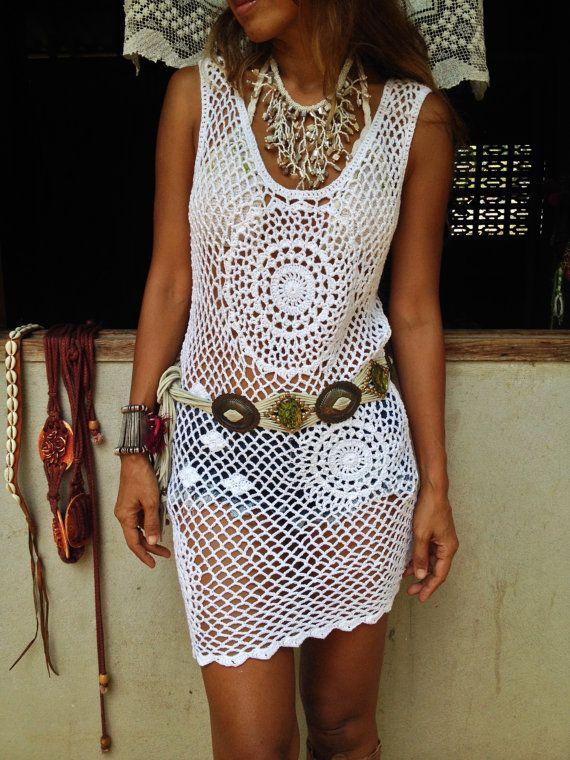 Bohemian Mandala Crochet Dress por SpellMaya en Etsy