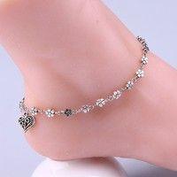 Wish | Women Silver Bead Chain Anklet Ankle Bracelet Barefoot Sandal Beach Foot Jewelry