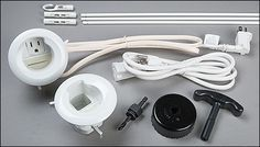 Cable Grommet Kit for Wall-Mounted Electronics - Lee Valley Tools