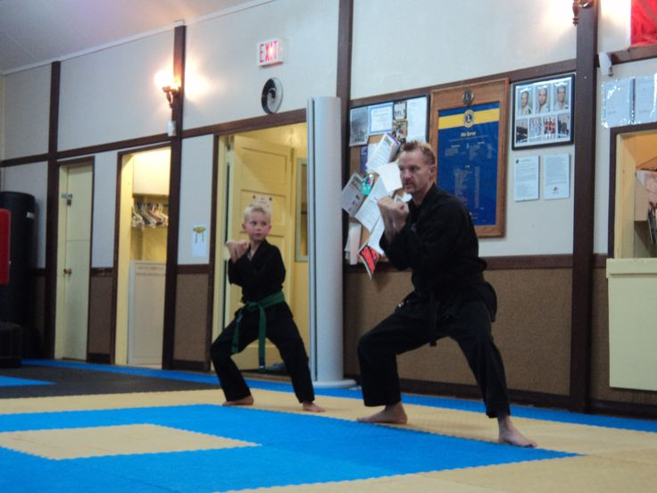 Sensei Trevor doing Kata with a student.