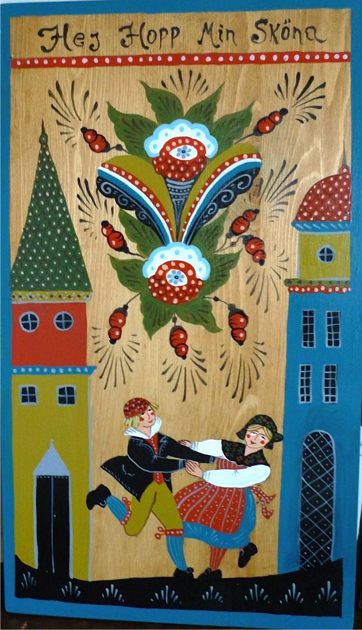 Swedish Folk Art  -  Ilustraciones de arte tradicional de Suecia.   -lbk-