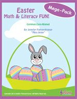 Easter Math and Literacy FUN Mega-Pack: 120 pages of materials (games, mini-books, chants, crafts, etc). Perfect for PreK-2nd grade