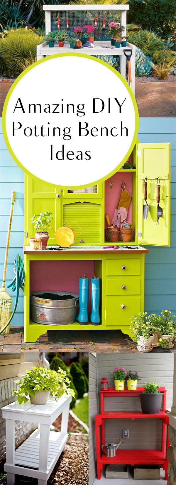 25 beautiful potting bench plans ideas on pinterest for Potting shed plans free