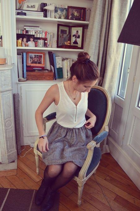 Les 25 meilleures id es de la cat gorie coudre sur pinterest projets de couture projets de - Tuto jupe facile elastique ...