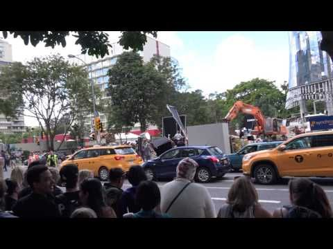 The filming of Thore in Brisbane Queensland Australia Day 1
