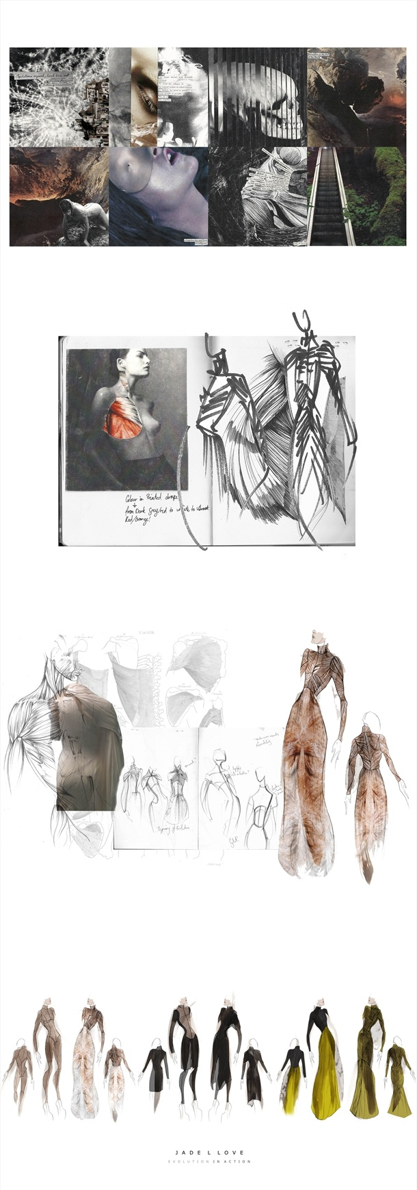 Fashion Sketchbook drawings, illustrations & fashion moodboard