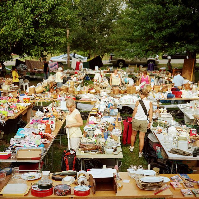 Okay, so it's not an actual thrift store, but Yard Sales are all American FUNNNNN!!!!