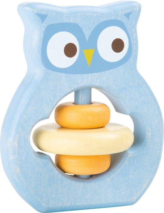 """SONAJERO DE MADERA PARA AGARRAR """"LECHUZA"""" Esta lechuza no es sólo un juguete para agarrar de gran calidad, sino también un ergonómico sonajero. El anillo del medio hace divertidos sonidos al moverse de un lado a otro, fascinando a los más pequeños. #sonajerobebe #juguetemadera  #juguetebebe http://www.babycaprichos.com/sonajero-de-madera-para-agarrar-lechuza.html"""