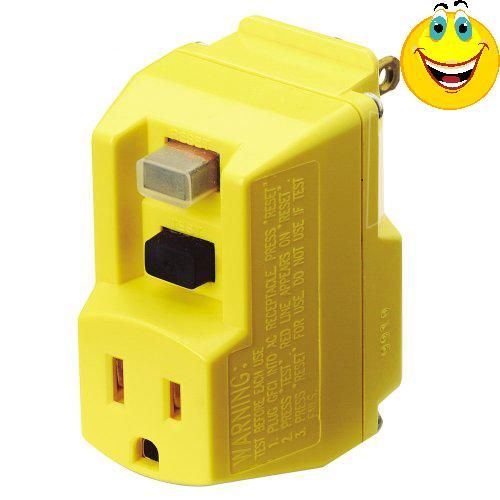 #sale  #Shockshield #Yellow Portable GFCI Plug with Surge Protection The primary cause of shock and electrocution in the home is an electrical condition known as ...