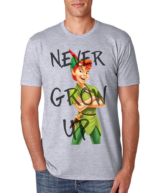Peter Pan Iron On T-shirt Transfer Printable - Disney matching shirt - Personalized couples shirt - Family Vacation shirts - Never grow up