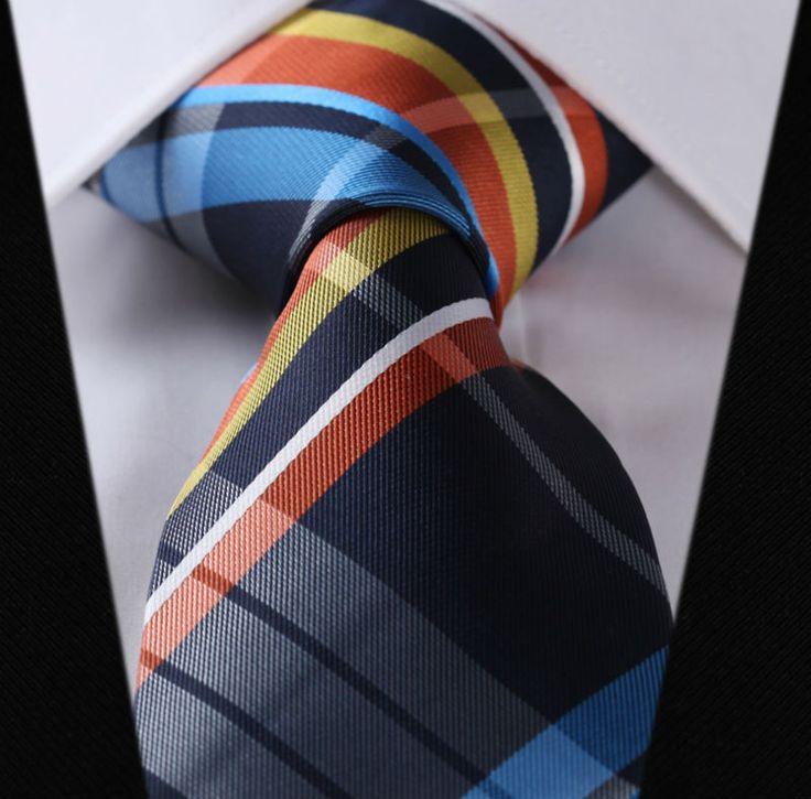 """Trova più Ties & Handkerchiefs Informazioni su TC441B8 blu arancione verifica 3.4 """" 100% seta jacquard di cerimonia nuziale tessuto classico della cravatta uomo cravatta, Alta Qualità cravatte donne, Cina cravatte da uomo Fornitori, A buon prezzo cravatta fornitore da inshine su Aliexpress.com"""