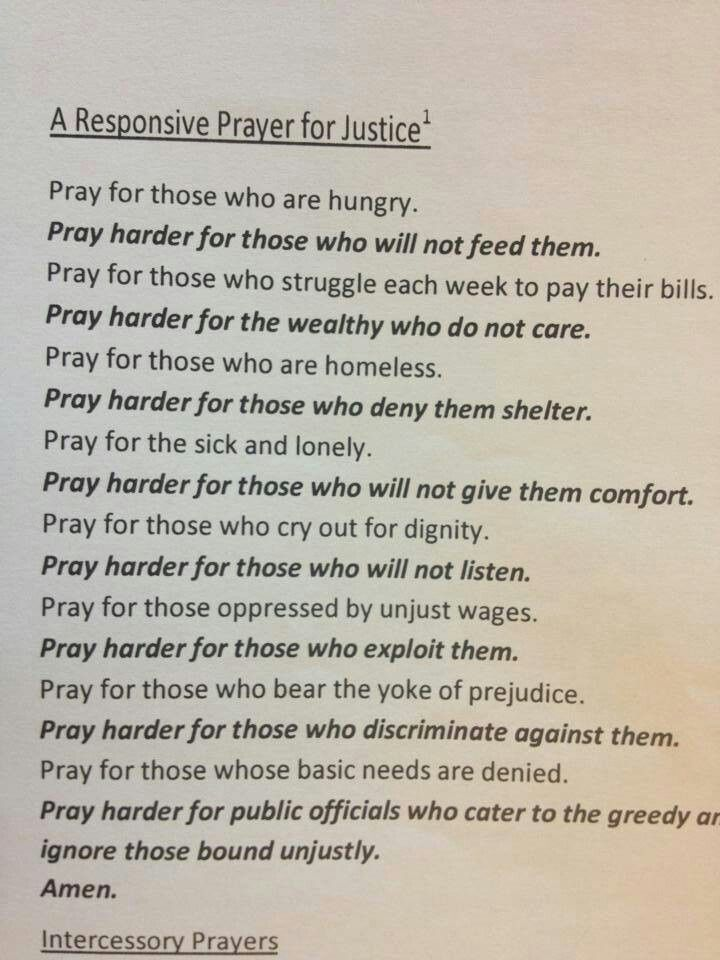 Prayer for Justice