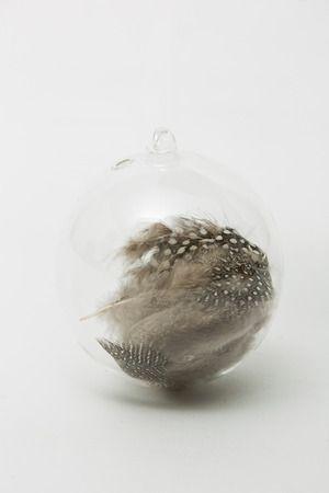 guinea feather ornament