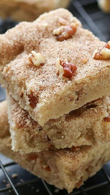 Cinnamon Pecan Shortbread Bars {traditional and gluten free recipes}