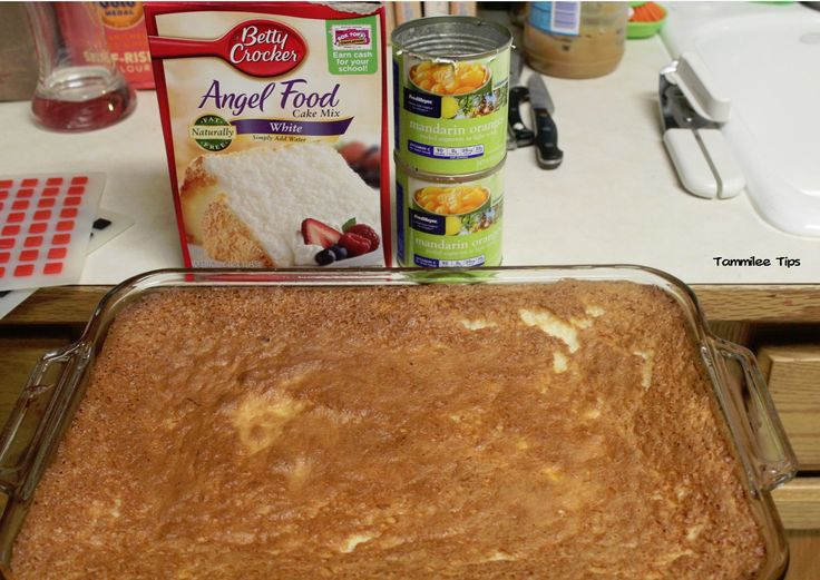 Mandarin Orange Angel Food Cake - sounds good, need to figure out the WW points though