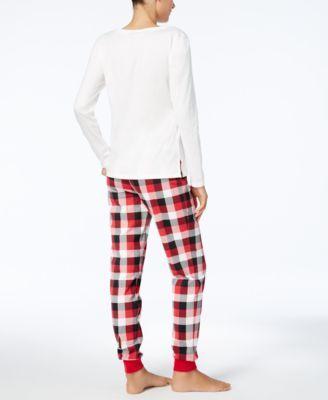Family Pajamas Women's Buffalo Plaid Bearly Awake Pajama Set, Created for Macy's - Red XXL