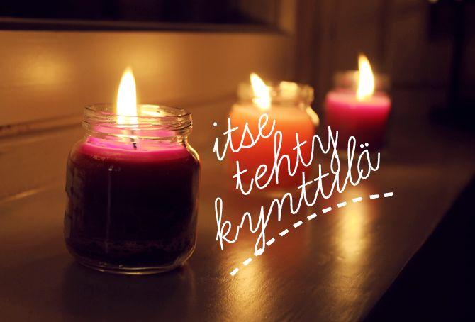 Katjamaria: itse tehdyt kynttilät