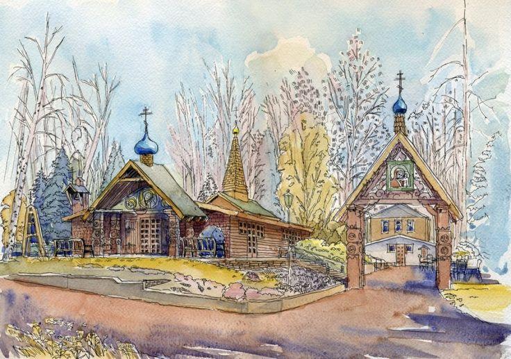Казанская церковь в Си-Клифе, Нью-Йорк, США. Автор: Иван Краснобаев