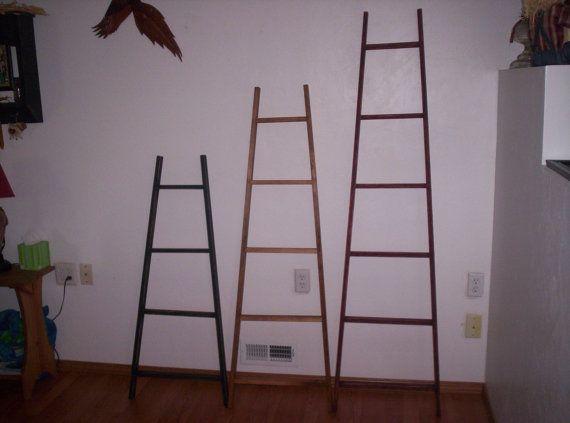 Appy 4 ft Tapered Display & Storage Ladder, Orchard Ladder, Quilt Ladder, Blanket Ladder, Library Ladder, Scarf Ladder, Towel Rack