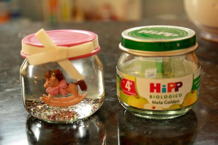 baby food, favor for baptism