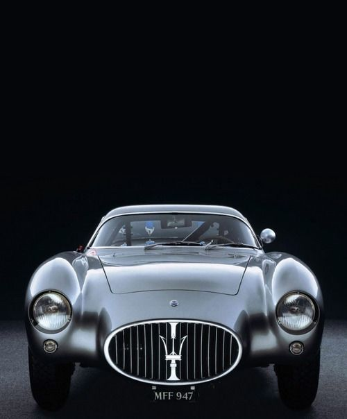 {1954 Maserati A6 GCS/53 Berlinetta}. Pretty, but the Maserati grill always makes me wonder if one has to do a deal with the devil to have one! ;o)