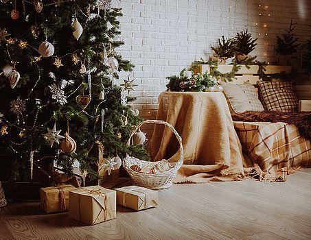 NadyaEugene Photography - Christmas home interior