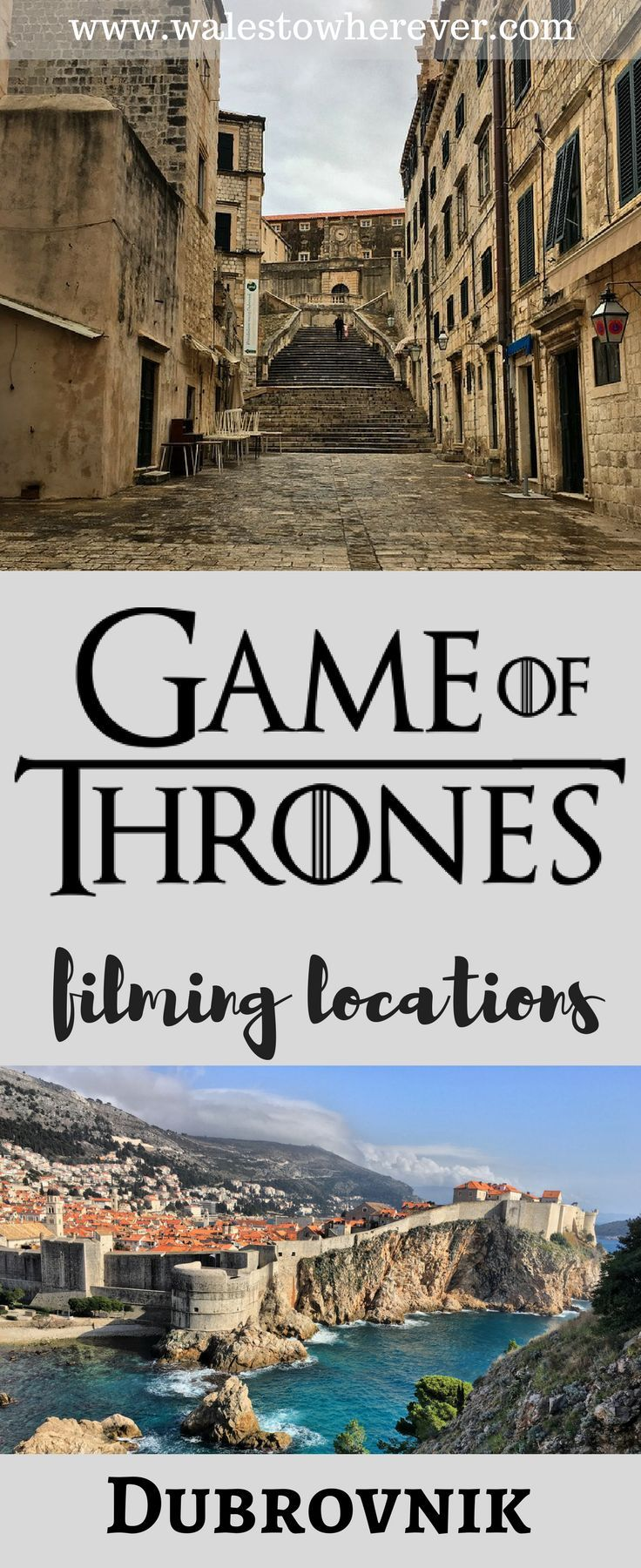10 Game of Thrones Filming Locations in Dubrovnik, Croatia. Travel in Eastern Europe.