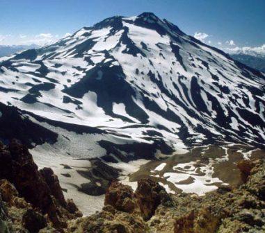 Volcán San Pedro, se encuentra en el borde del Desierto de Atacama