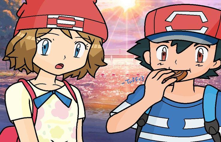 Ash y Serena ♥ Alola Satosere