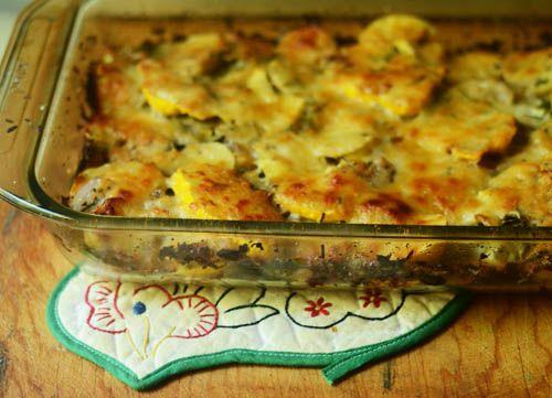tend: a favorite recipe: herbed summer squash & potato torte