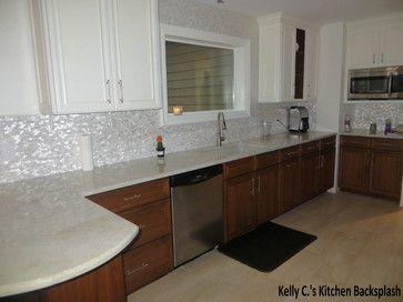 White Brick Groutless Pearl Shell Tile Tile Design Kitchens And Bricks