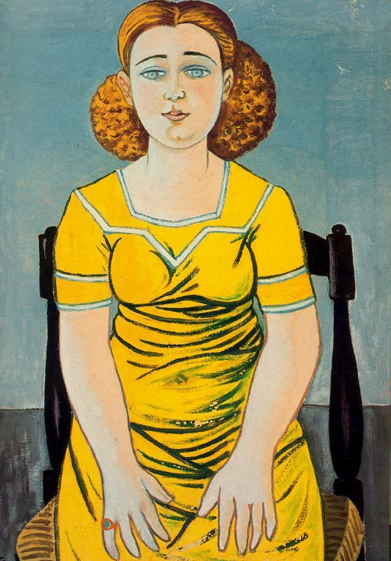 Rafael Zabaleta, Portrait of seated blonde woman, Retrato de mujer rubia sentada, 1944