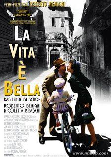 """""""La vita è bella"""" (Life Is Beautiful) 1997 comedy-drama film directed by and starring Roberto Benigni."""