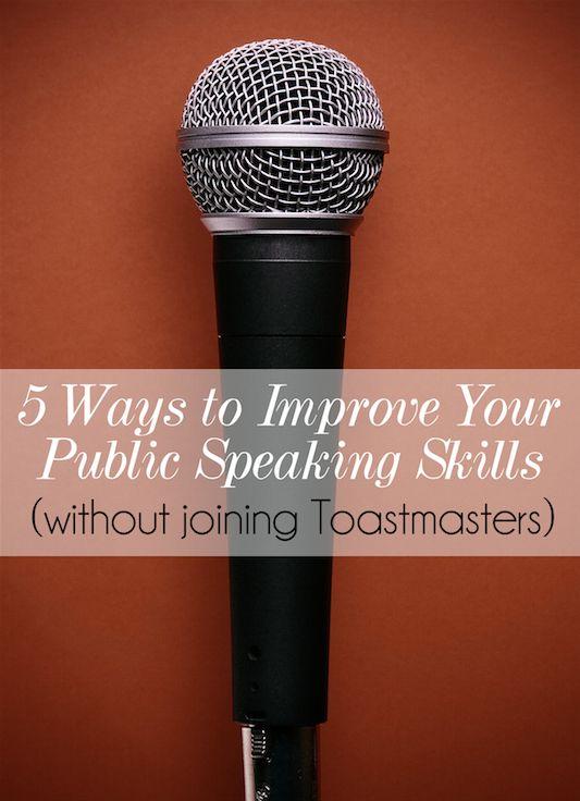 Improve your public speaking
